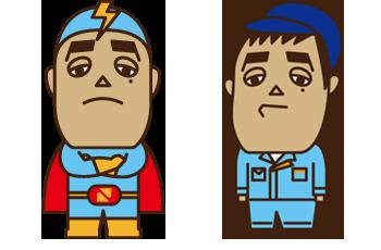 公式キャラクター 『さくちゃんマン』